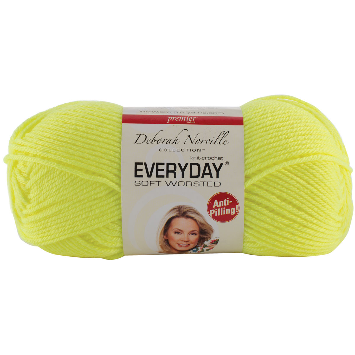 """/""""Deborah Norville Collection Everyday Solid Yarn-Fluorescent Yellow Set Of 3/"""""""