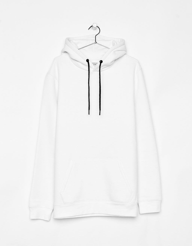 Bershka Dreamers White Sweatshirt Bershka Bershka White Sweatshirt Oversized Men White Sweatshirt Fashion Hoodies [ 1313 x 1024 Pixel ]