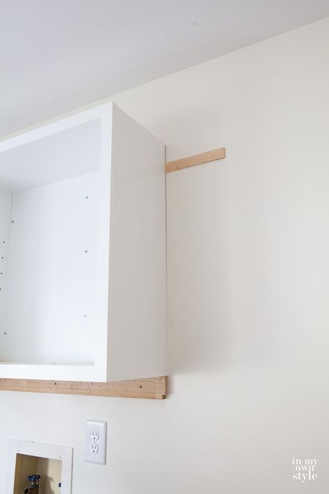 Mudroom Update Installing Wall Cabinets Kitchen Wall Cabinets Diy Laundry Room Cabinets Laundry Room Cabinets