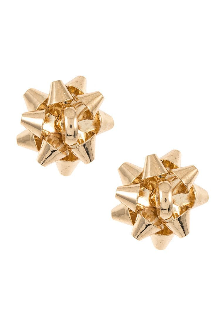 - Christmas Bow Post Earring - CA Lead and Nickel Compliant Product - Adult Only