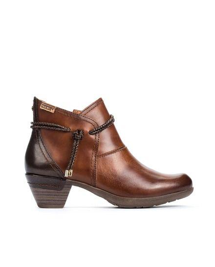 5a8cb19b Botines de mujer Pikolinos en piel vacuna color marrón   zapato ...