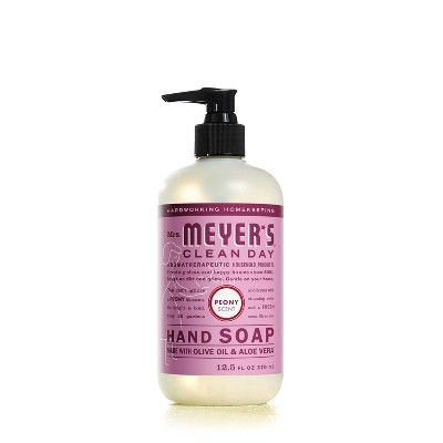 Mrs Meyer S Peony Scented Liquid Hand Soap 12 5 Fl Oz Liquid