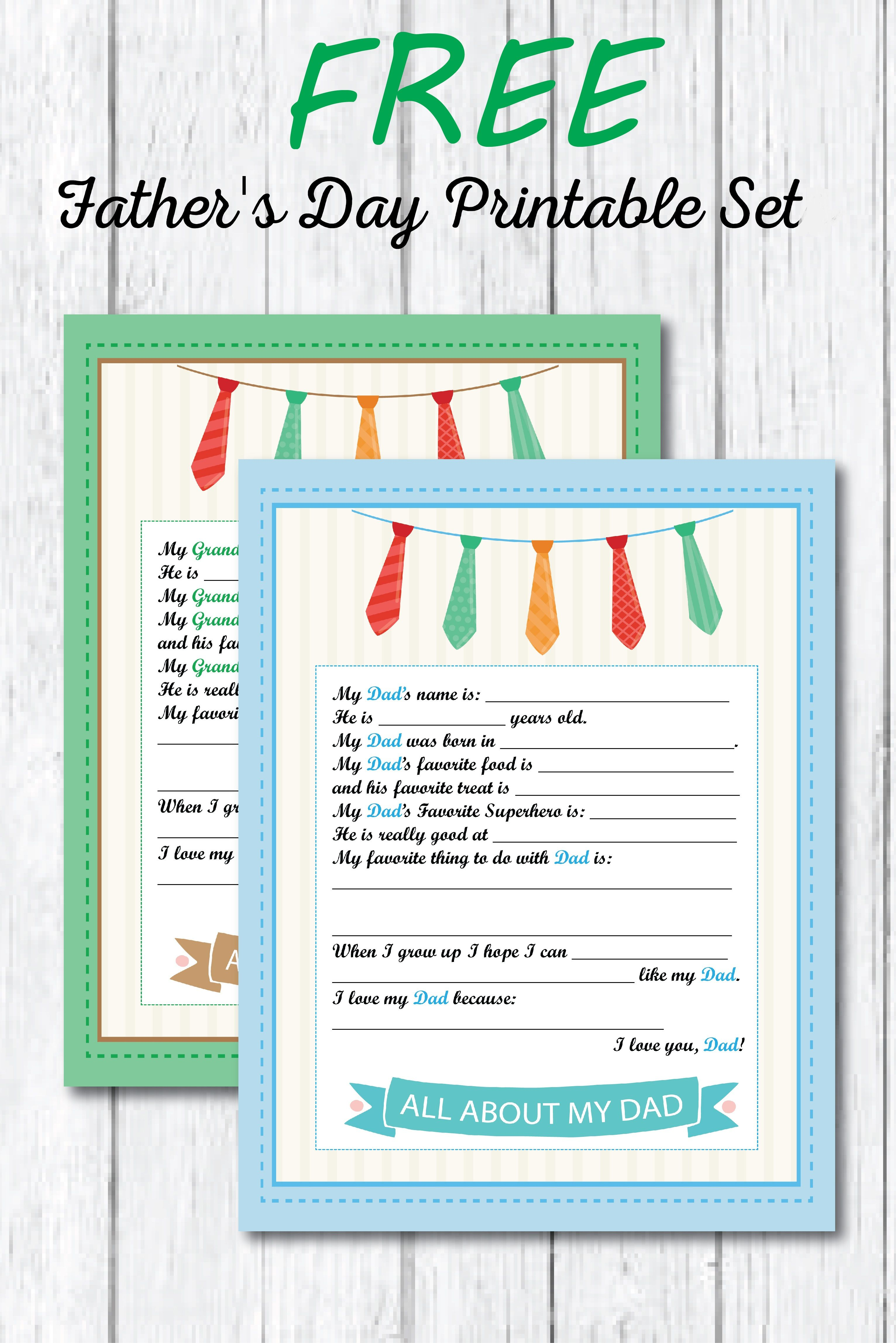 Father S Day Printable Worksheet For Kids