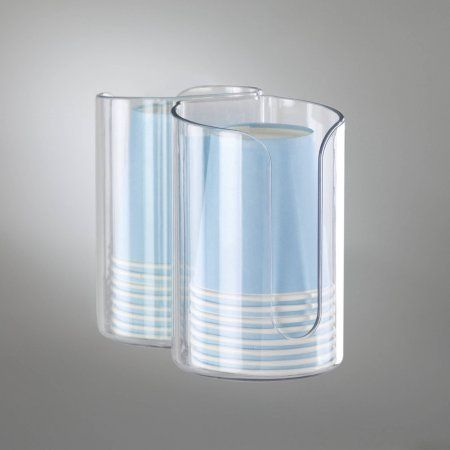 Interdesign Affi L And Stick Adhesive Bathroom Disposable Paper Cup Dispenser Clear