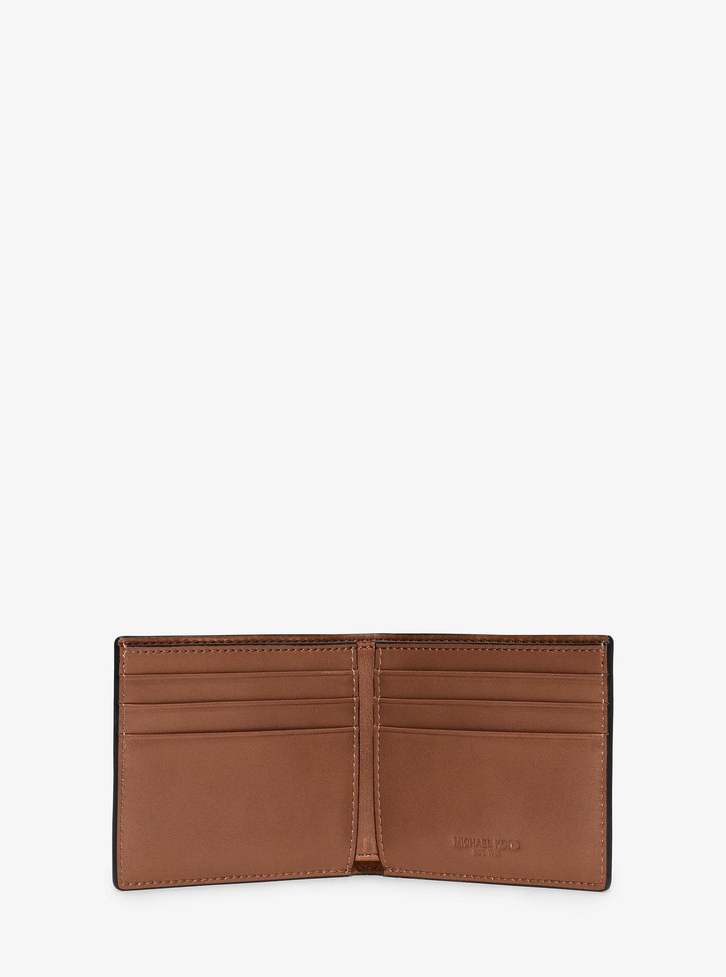 50d77871f537 Michael Kors Harrison Slim Leather Billfold Wallet - Brightorange