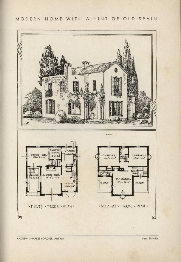 The Book Of Beautiful Homes Spanish Style Homes Vintage House Plans House Floor Plans