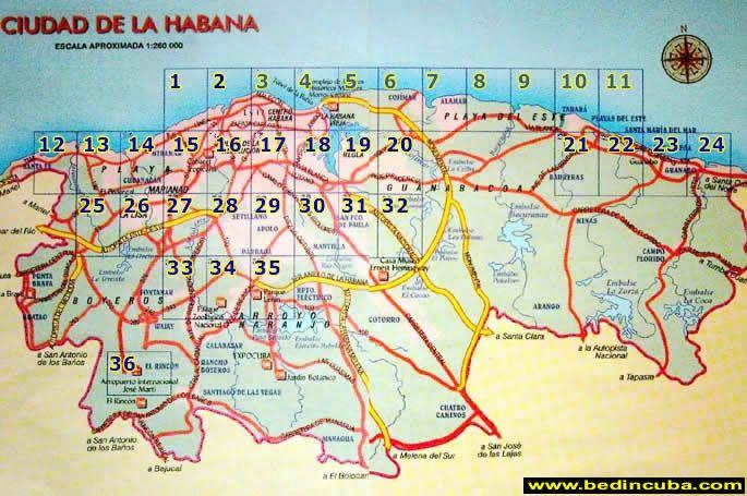 Mapa de Ciudad de la Habana en el ao 1951 La Habana Historica