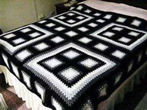 COLCHAS PARA CAMAS TEJIDAS A CROCHET Nº 005 - YouTube   crochet ...