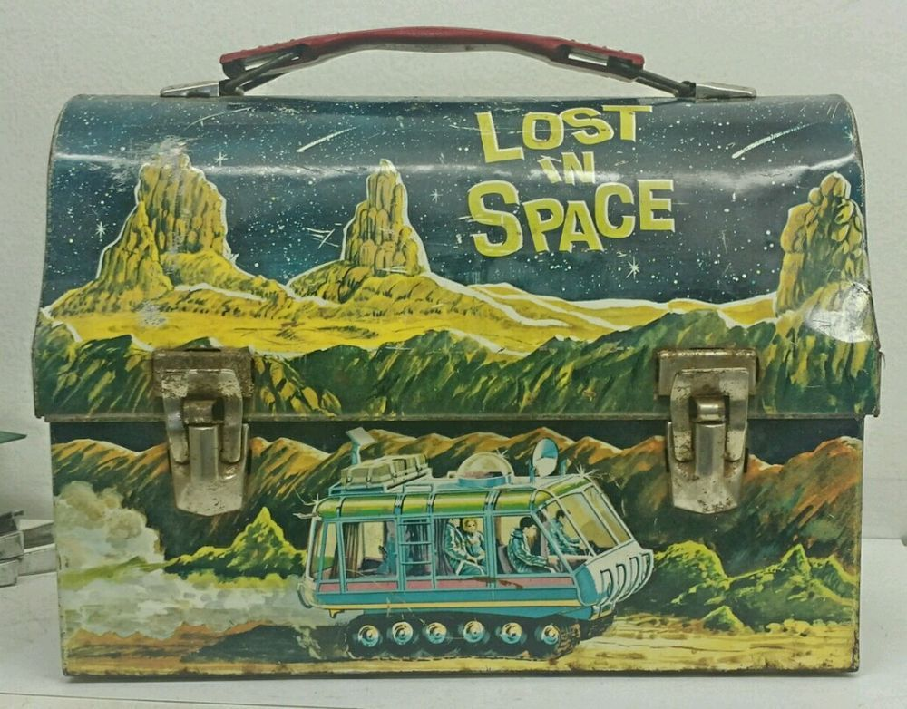 #VINTAGE LOST IN SPACE 1967 KING SEELY METAL TIN STEEL LUNCH BOX