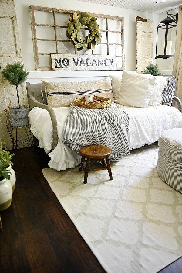 Farmhouse Guest Bedroom Makeover   Home   Pinterest   Bedrooms  Room     Farmhouse Guest Bedroom Makeover