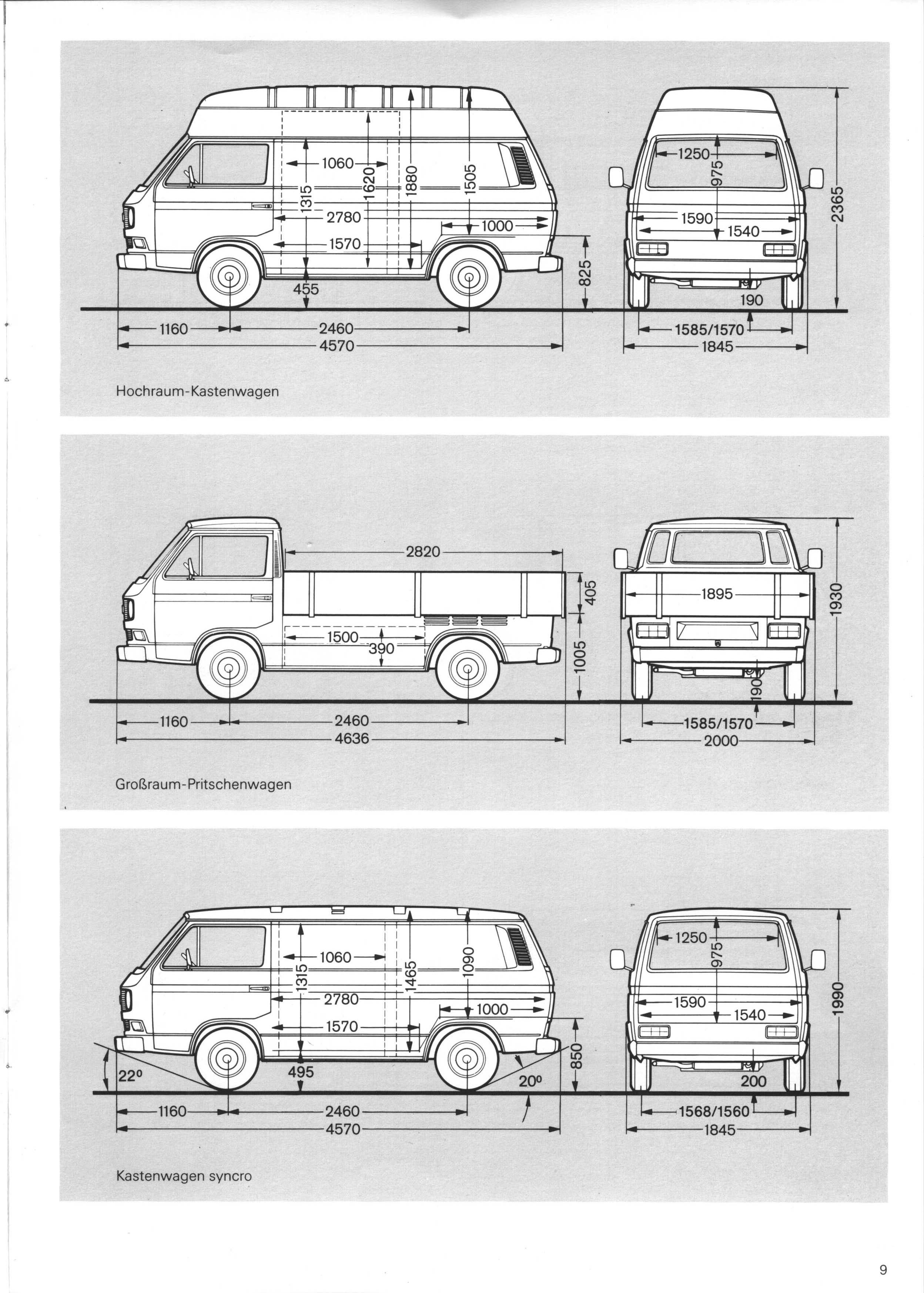 thesamba com view topic vanagon and doka line drawings with