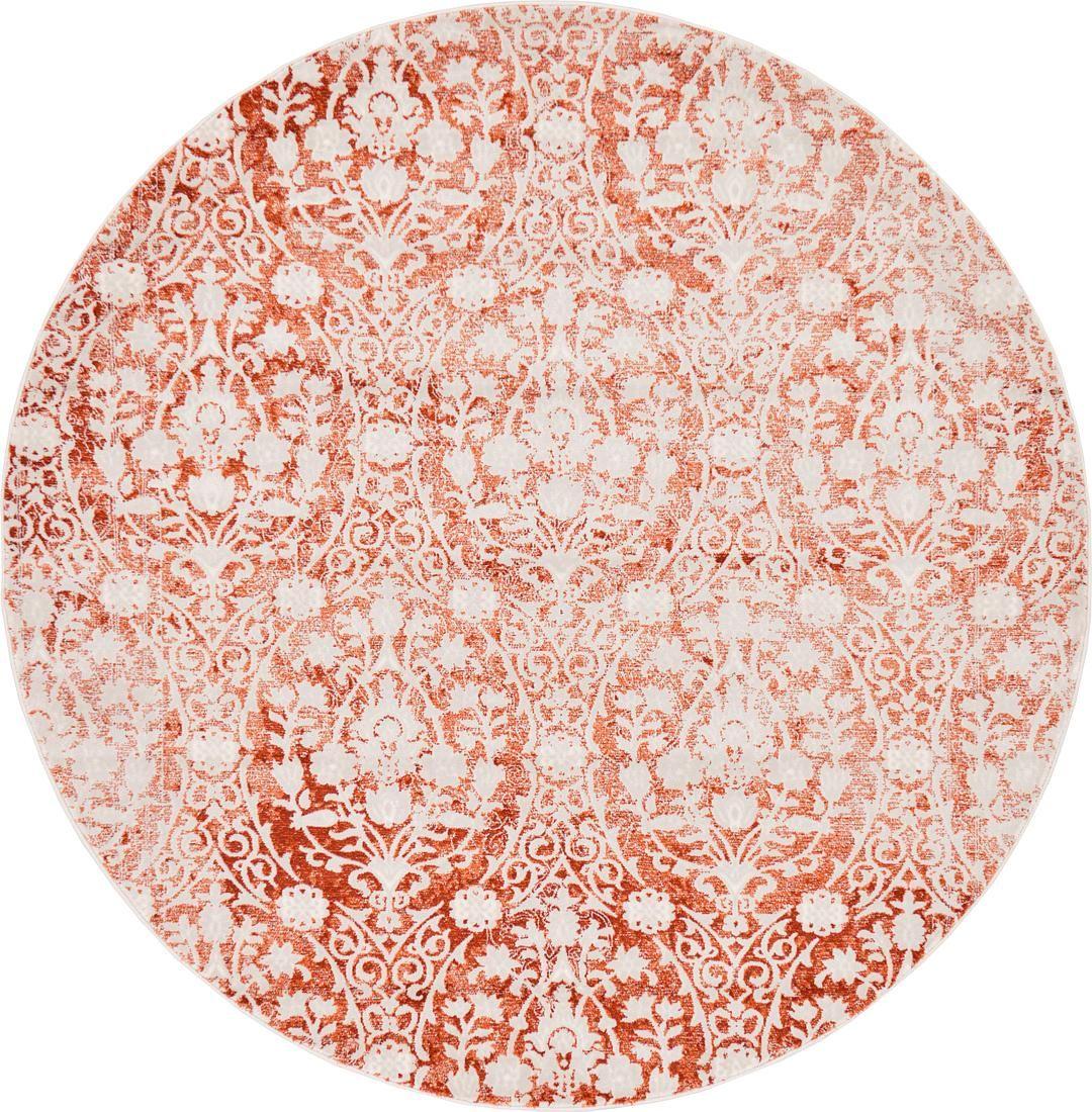 Terracotta 6 X New Vintage Round Rug Area Rugs Erugs