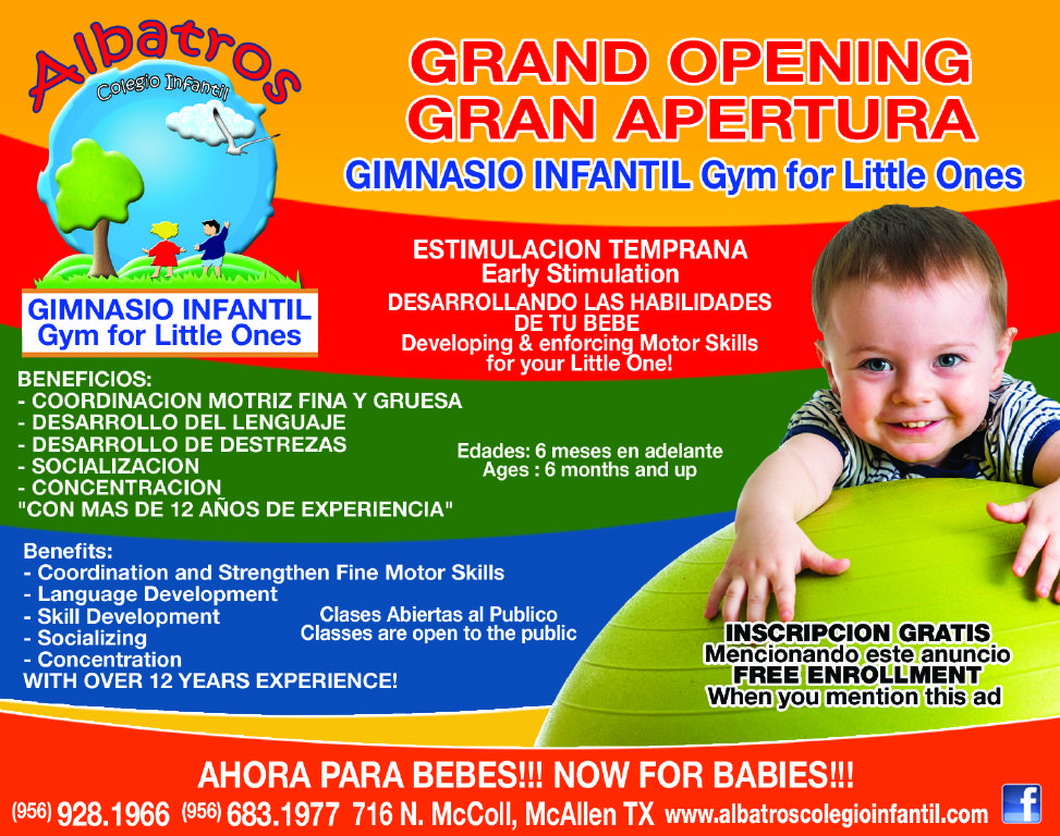 Albatros Gym for little ones is having their GRAND OPENING!! Stop in and check it out!  // For more family resources visit www.tots-tweens.com! :)