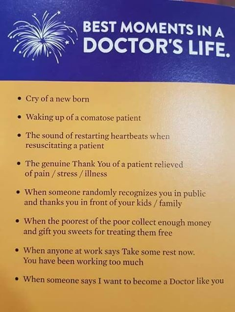 Best moments in a doctor's life | medicine | Medical quotes