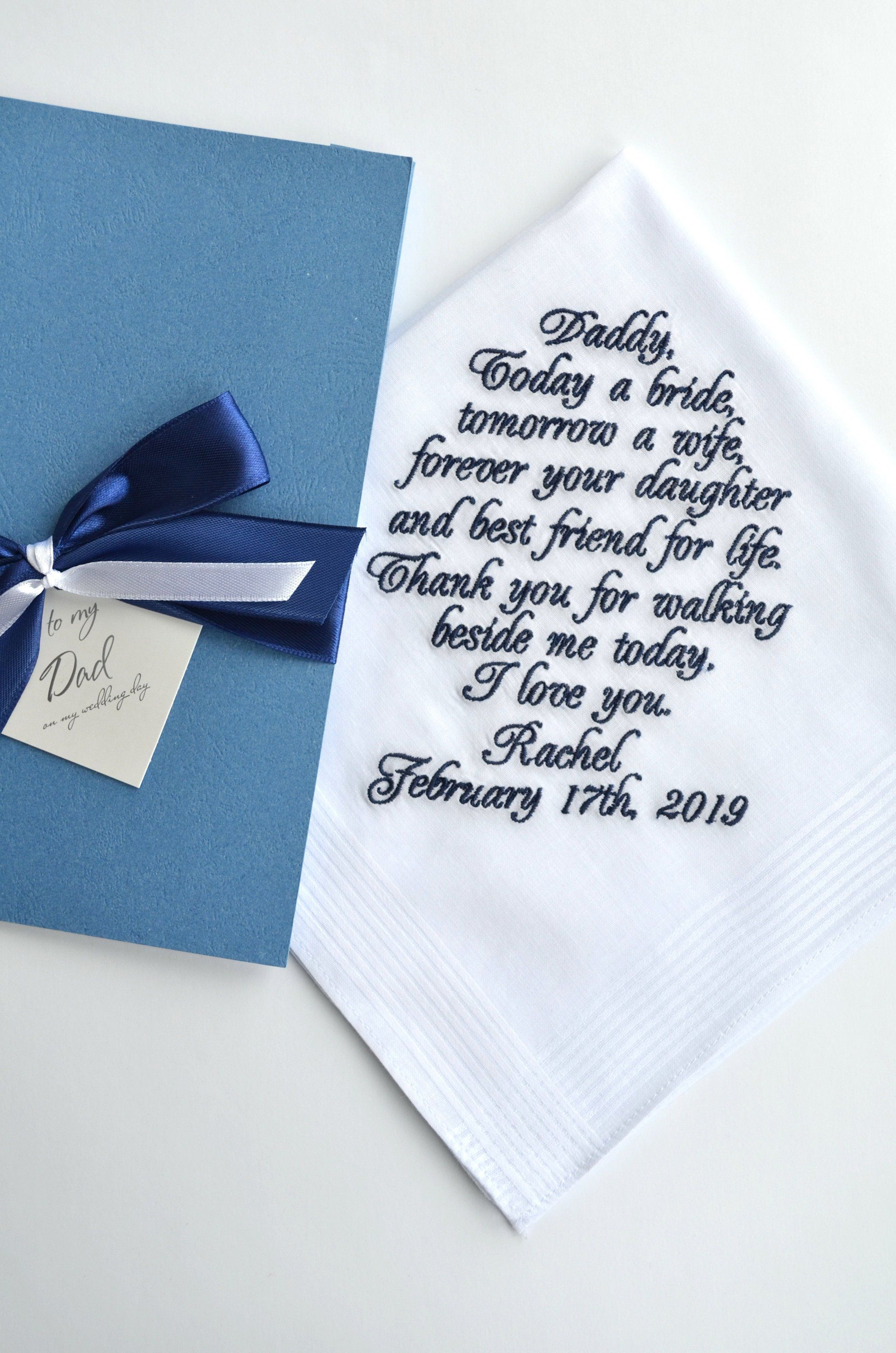 Father of the bride gift personalized dad gift from