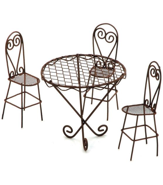 Timeless Miniatures - Wire Garden Table & Chairs Set | Alambre ...