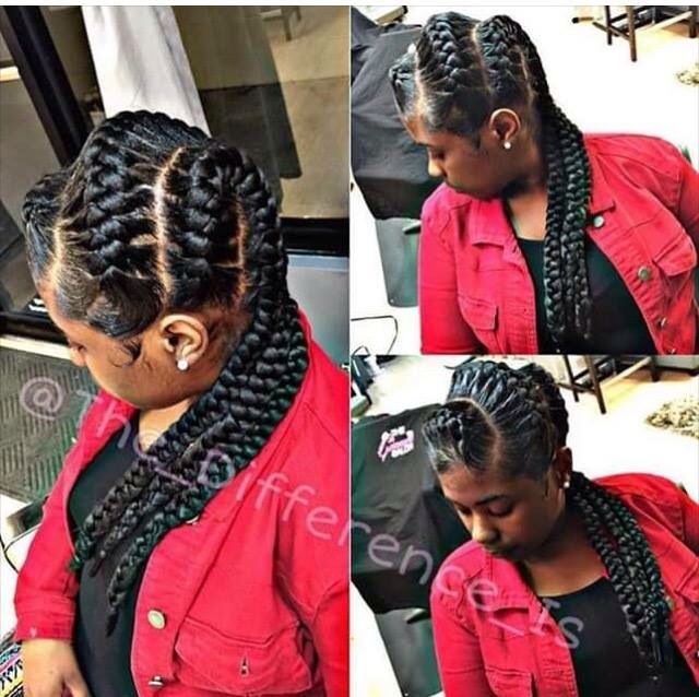 Don't Know What To Do With Your Hair: Check Out This Trendy Ghana Braided Hairstyle #goddessbraids