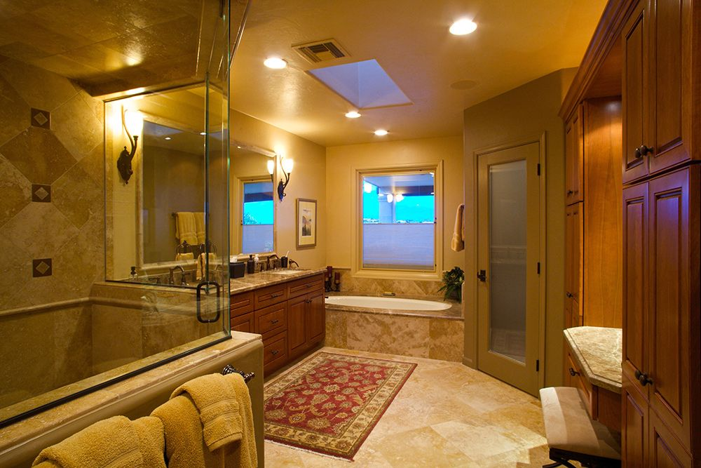 Traditional Master Bathroom Remodel With Roll In Accessible Steam Shower Access