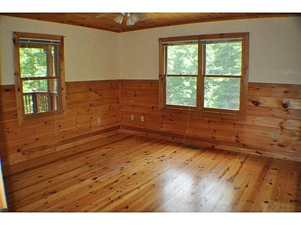 Come check out this 3 BR/2 BA cabin tucked privately away in one of the most beautiful parts of Fannin County. Features incl. large master with hearth for wood stove, oversized kitchen/great room w/wood burning fireplace, pond view, totally seclusion, wrap around porch/deck, 2 car drive under garage. This is a Fannie Mae Homepath property and can be purchased for as little as 3% down. #zillow