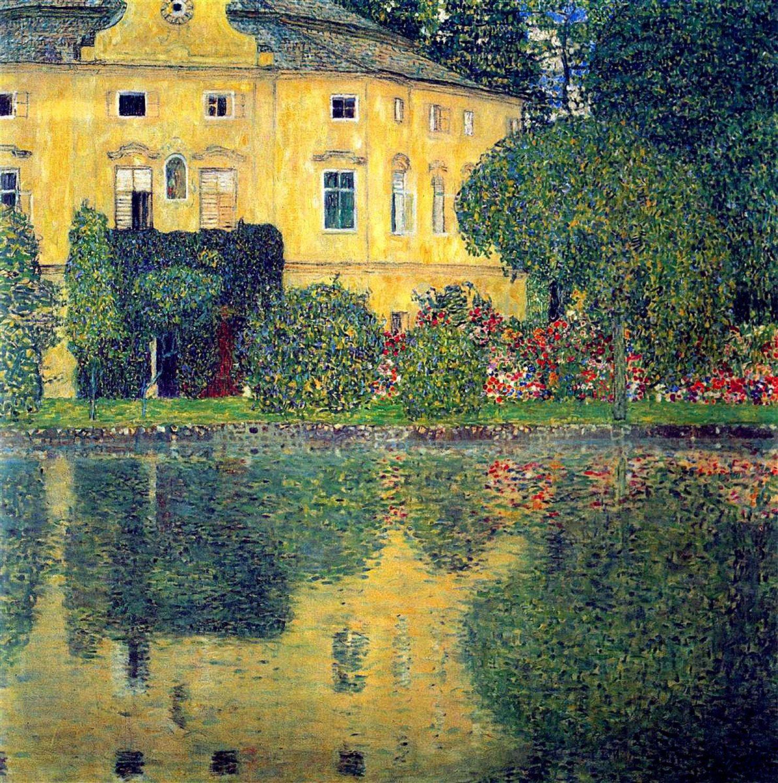 Gustav Klimt Schloss Kammer On The Attersee 804 Modern Cross Etsy Klimt Art Klimt Gustav Klimt