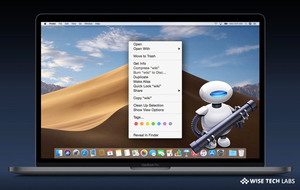 How to add delete button to the context menu on your mac