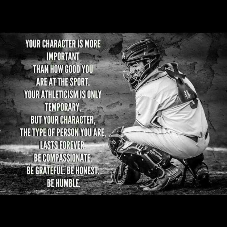 A lot of young athletes need to learn this! My sports