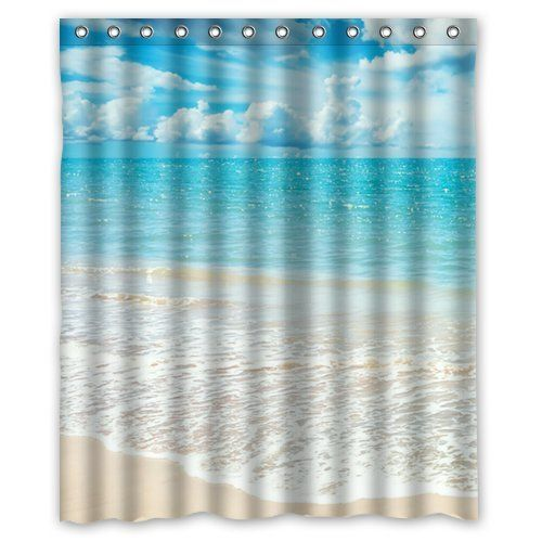 Beach Theme Custom Ocean Waves California Paradise Shower Curtain