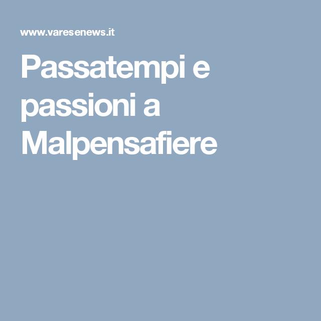 Passatempi e passioni a Malpensafiere