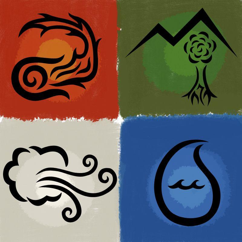 Four Elements By Forgottenmoonchildiantart On Deviantart
