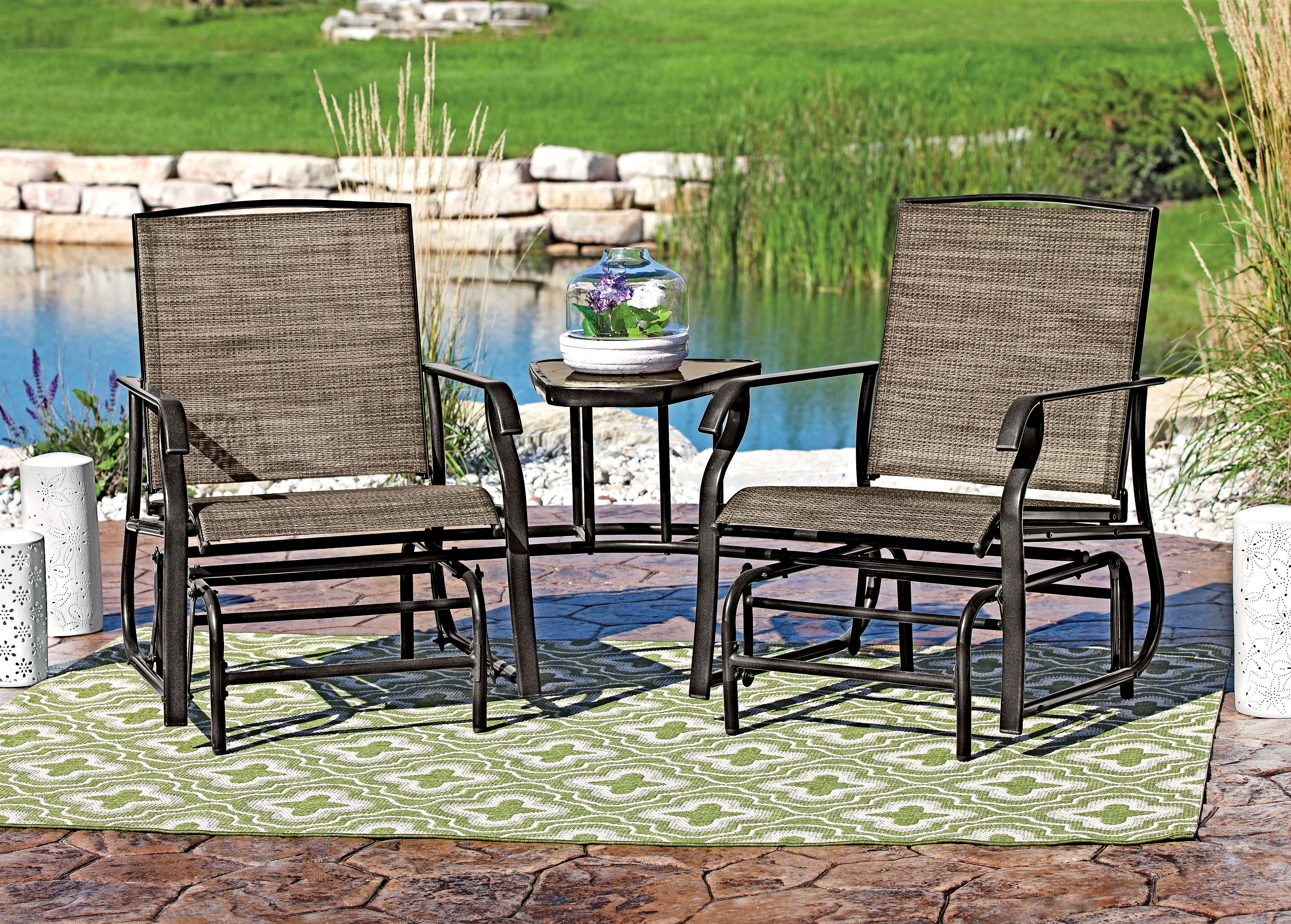 this 2 person glider is great for patios or decks shopko patio