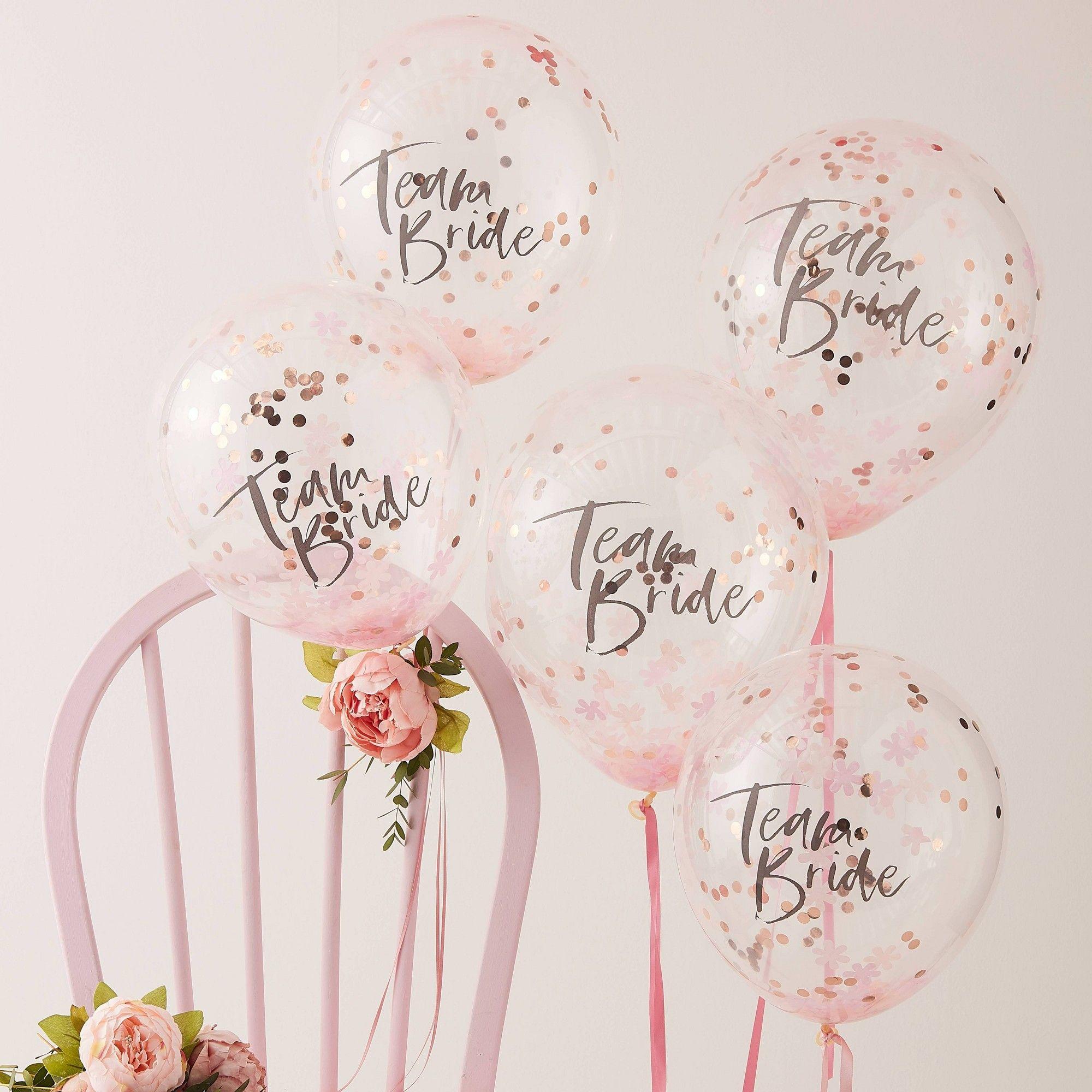 Team Bride Confetti Balloon Bride To Be Balloons Hen Party Balloons Team Bride