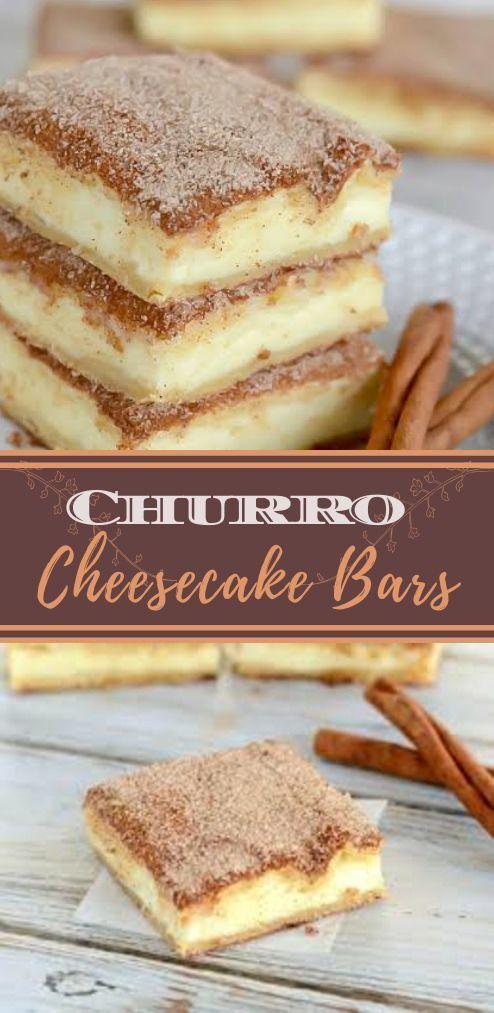 Tasty Churro Cheesecake Bars