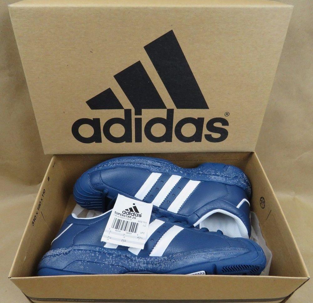 brand new d2fde c1046 ADIDAS Superstar 2G Men s Basketball Shoes RARE BLUE 669164 NIB NEW Size  7.5  adidas