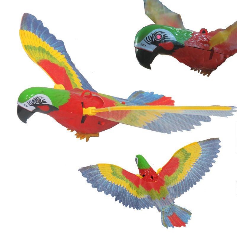 Elektrische papagei Trennen die papagei vögel fliegenden adler werden Augen helle stimme Mit lampe mit musik