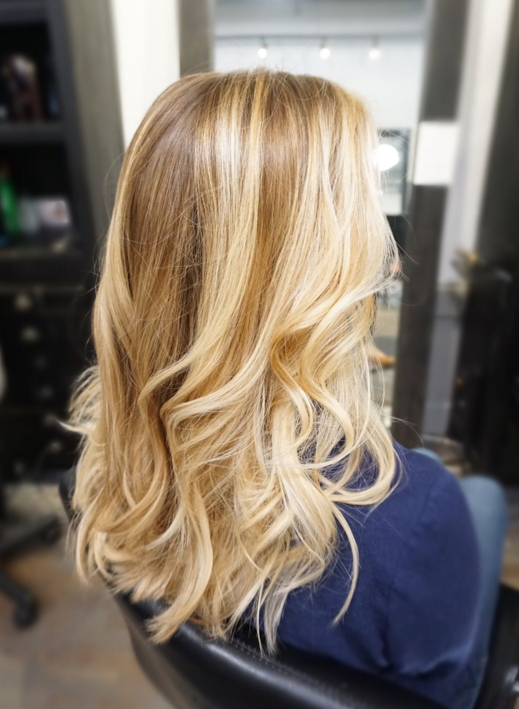 Natural Hair With Honey Blonde Highlights