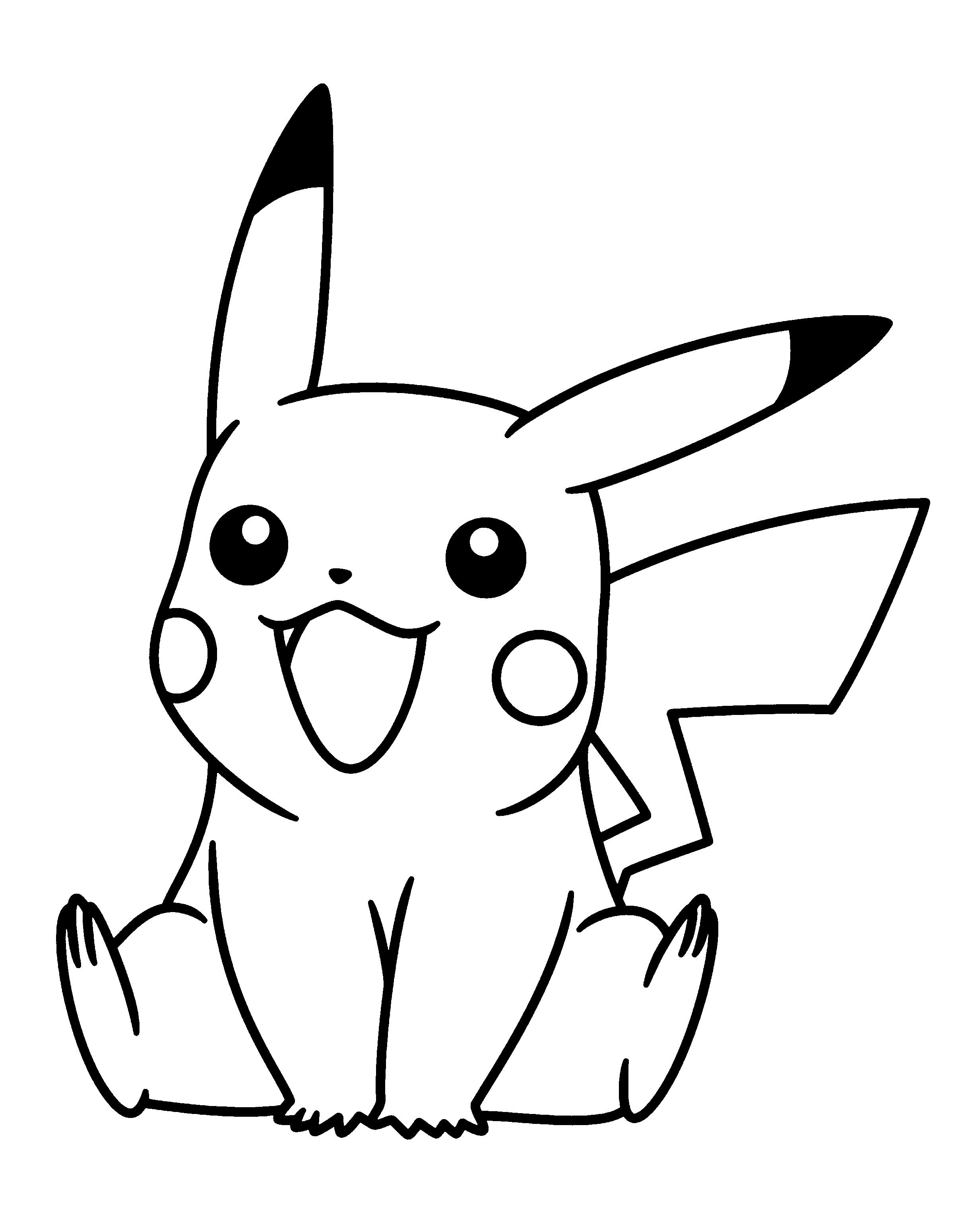 Pikachu Drawing Coloring Pages