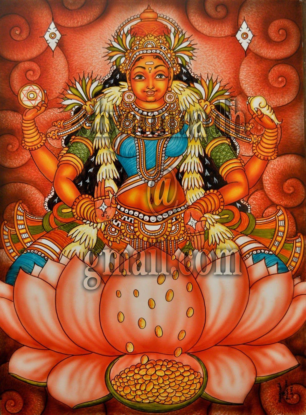 Artist shyamnadh Kerala mural painting, Buddha art