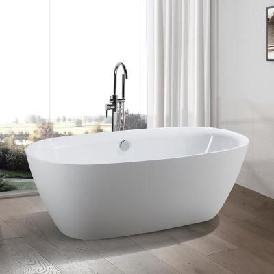 Vanity Art Lille 67 In Acrylic Flatbottom Freestanding Bathtub In