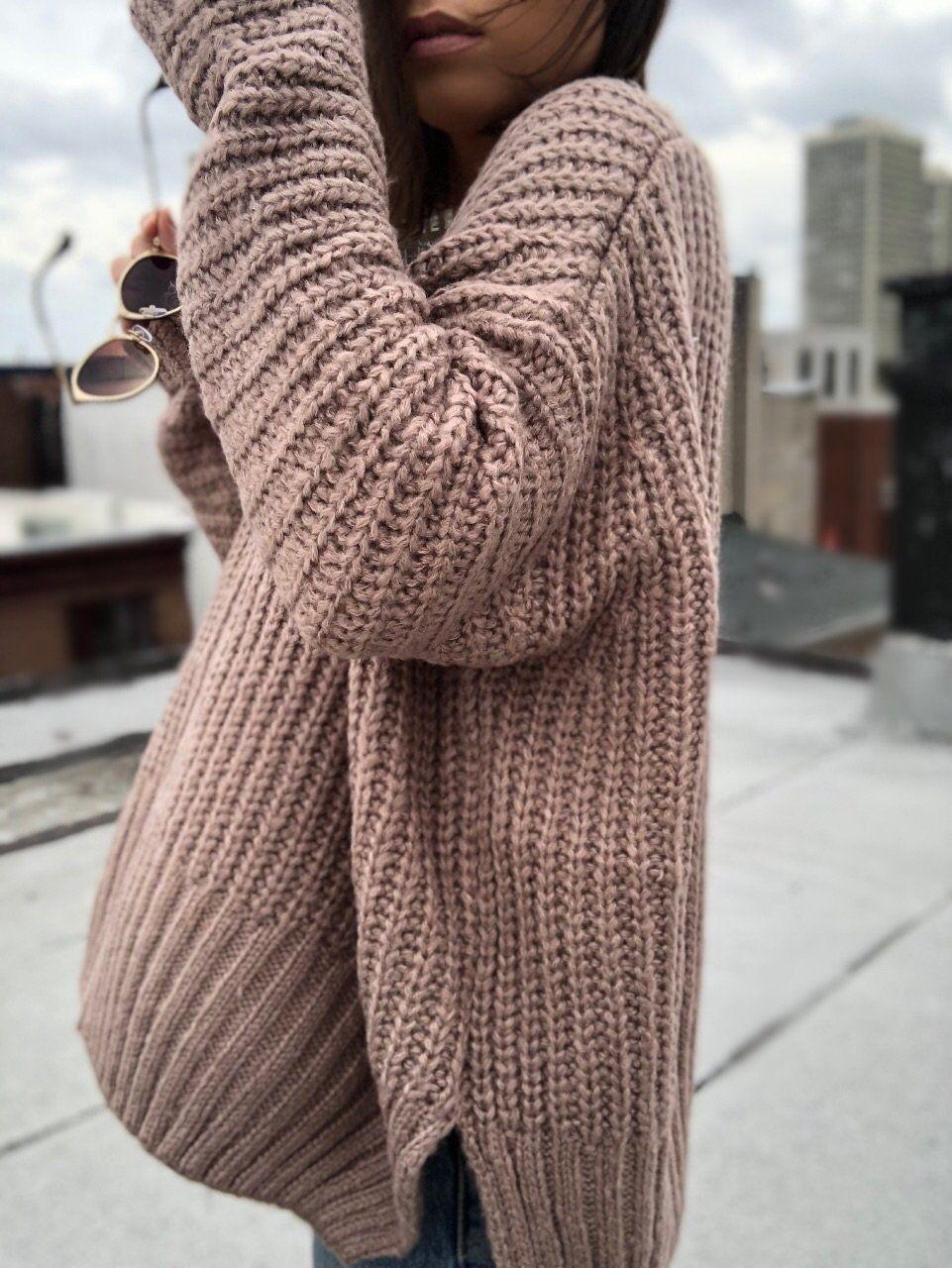 Ziggy Mocha Oversized Slouchy Sweater in 2020 | Slouchy