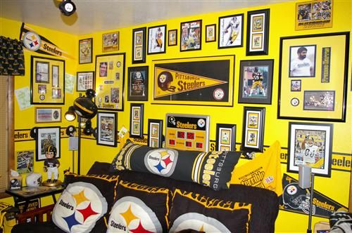 49320b46b Pittsburgh Steelers man cave | ManCave Ideas | Pittsburgh steelers ...
