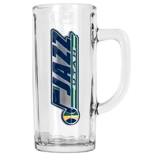 Utah Jazz Large Glass Beer Tankard