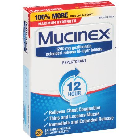 Mucinex Max Strength Expectorant Extended Release Chest Congestion