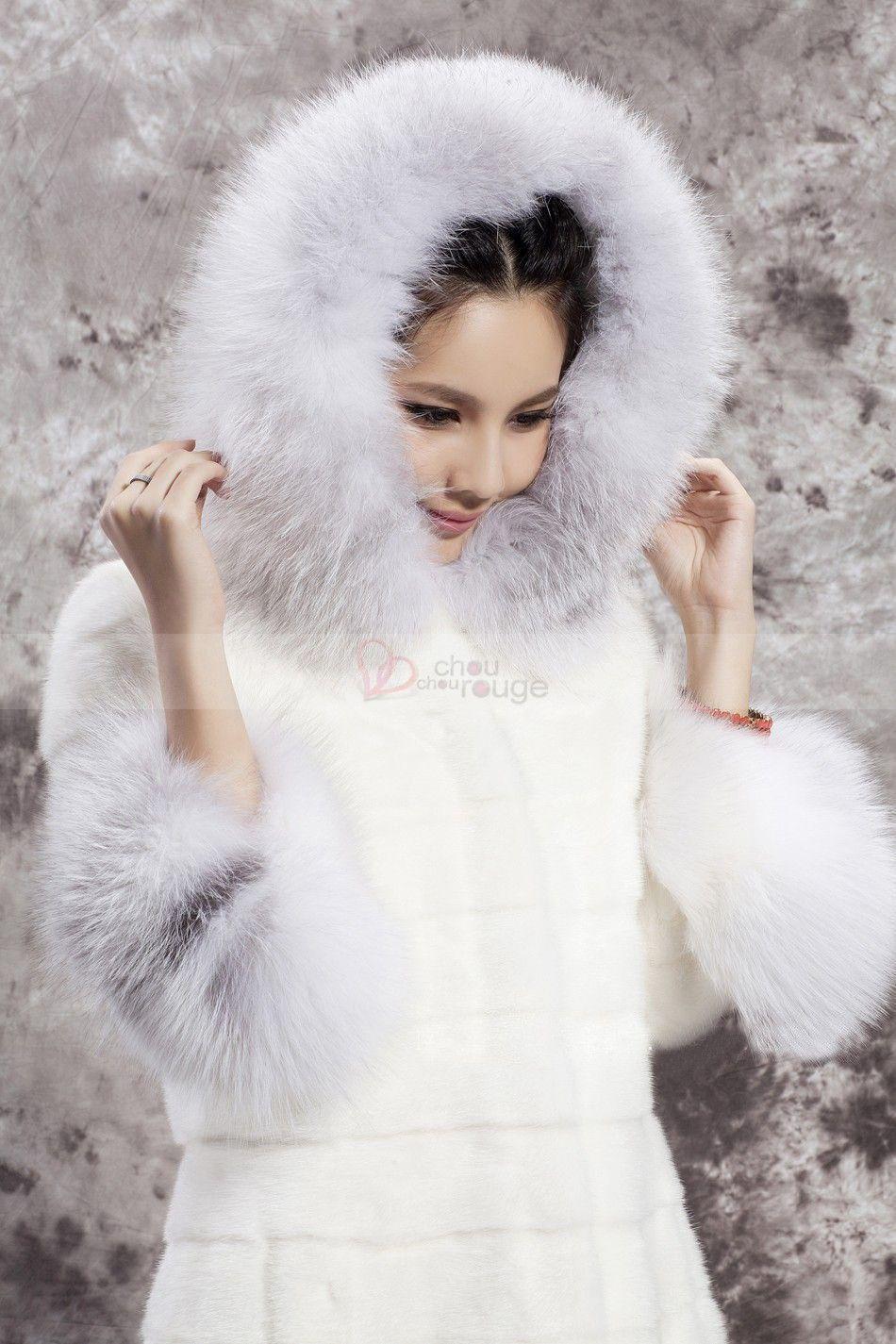Manteau en daim a capuche