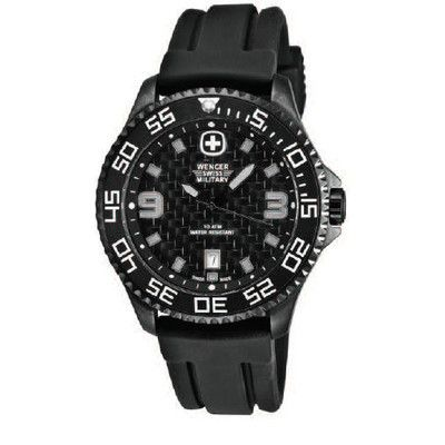 Trekker Military Wrist Watch With Textured Dial And Black