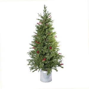 Potted Christmas Tree With Pinecones Berries 5 Christmas Tree Potted Christmas Trees Realistic Artificial Christmas Trees