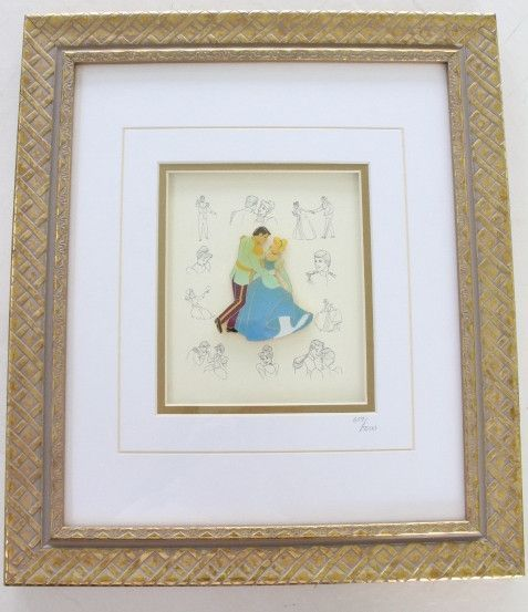 This beautiful retired Disney pin framed set for sale features a ...