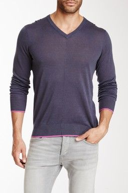 Cullen C/89 Exposed Seam V-Neck Sweater