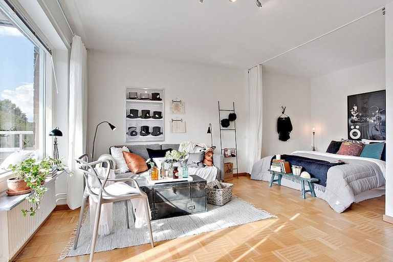 77 Stunning First Apartment Studio Decor Ideas Apartment Layout First Apartment Decorating Apartment Design
