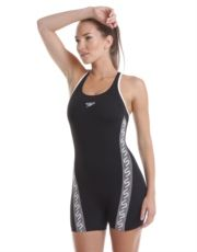bb44881677 Speedo Endurance Plus Monogram Legsuit - Black and White Simply Swim ...