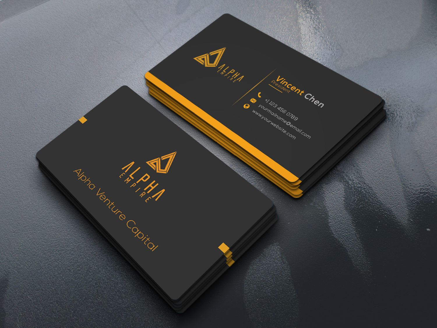 """Check out my @Behance project: """"Corporate Business Card"""" www.behance.net/..."""